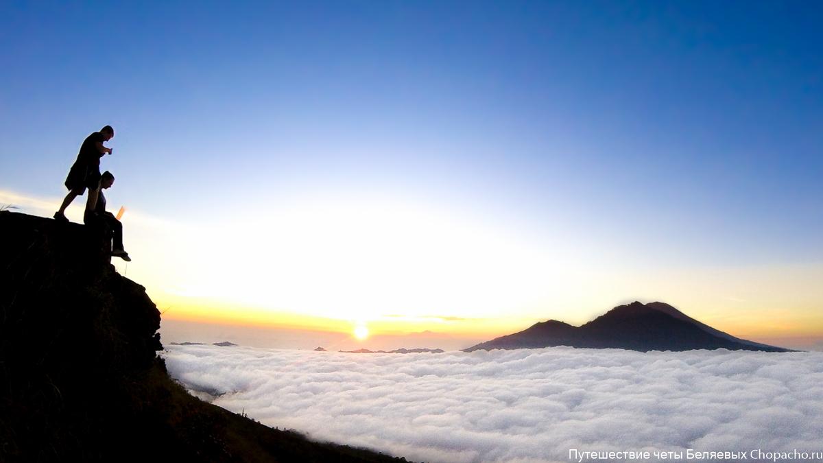Рассвет на вулкане Батур 2016. Бали.