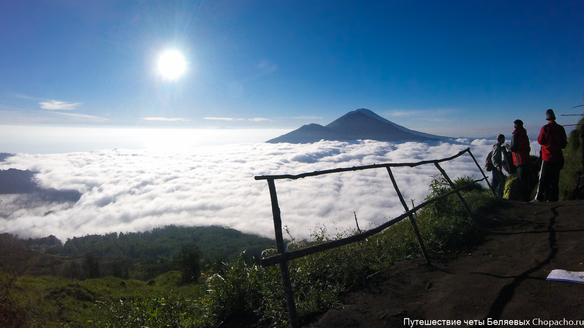 Самостоятельное восхождение на вулкан Бали Гунунг Батур в 2016 году.