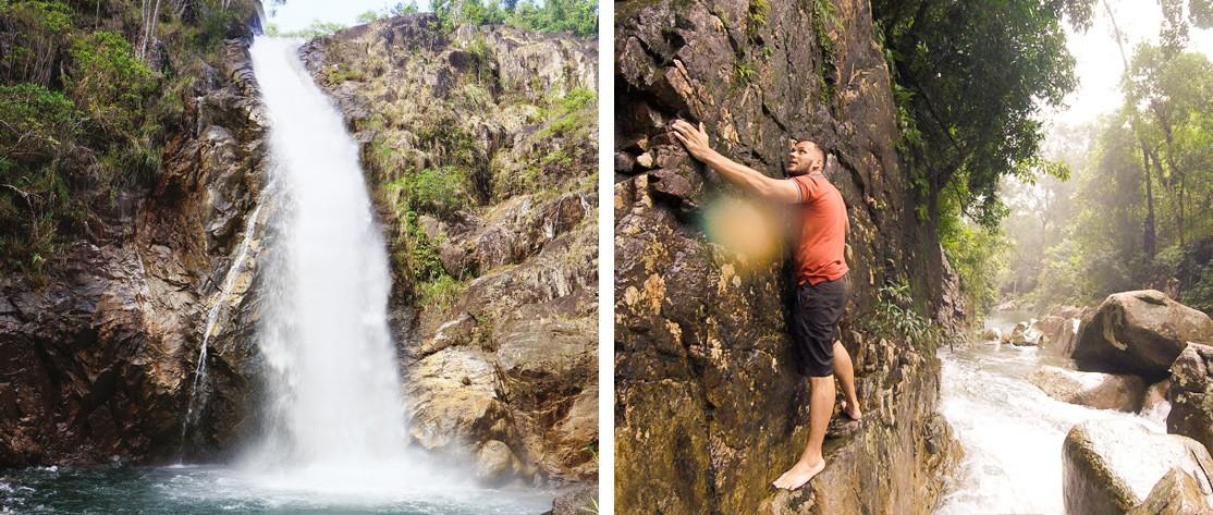 Дикий водопад Та Гу в 88 км от Нячанга, Вьетнам