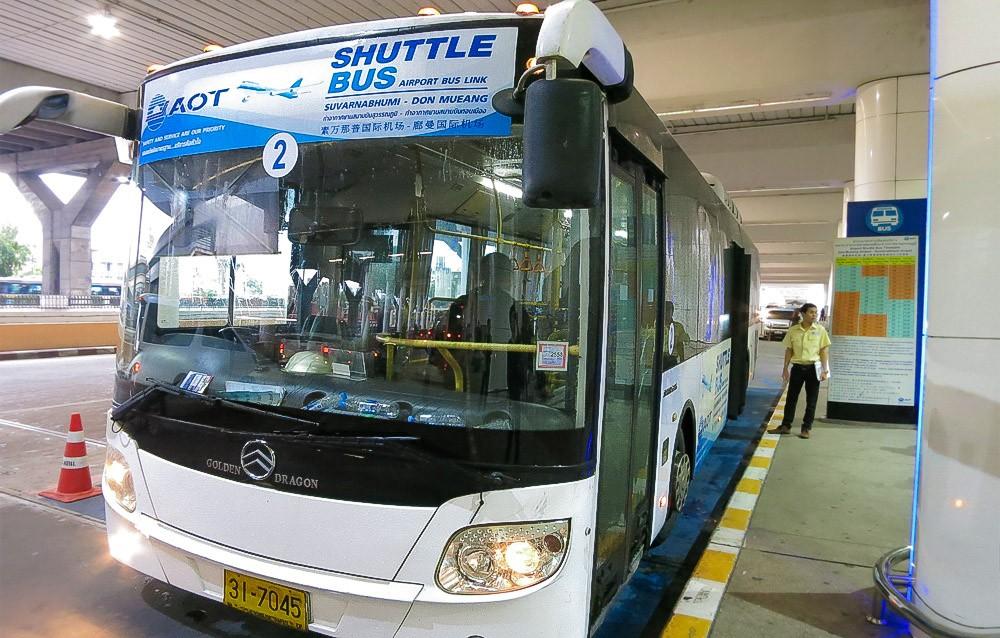 Автобус - шаттл из аэропорта Суварнабхуми в Дон Муанг