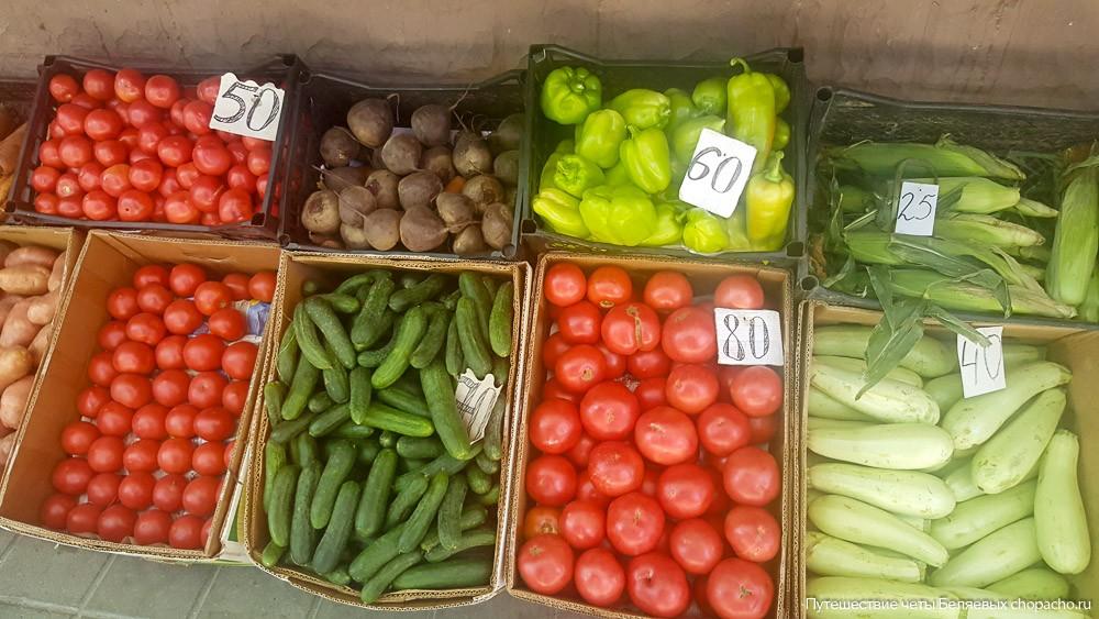Цены на овощи в Анапе
