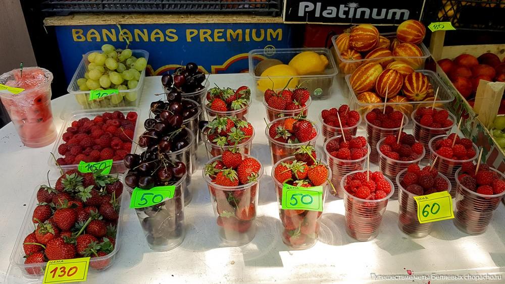 Цены на ягоды в Анапе