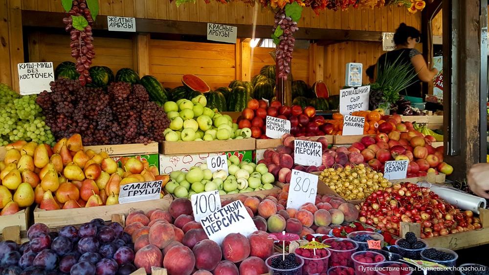 Цены на фрукты в Анапе