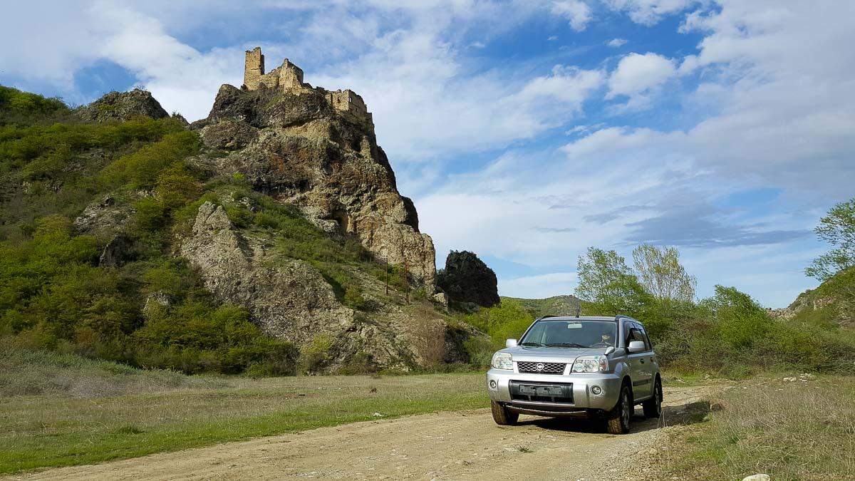 Нетуристическая крепость и замок Drisi (Тамариси или Джавахисцихе) в Грузии