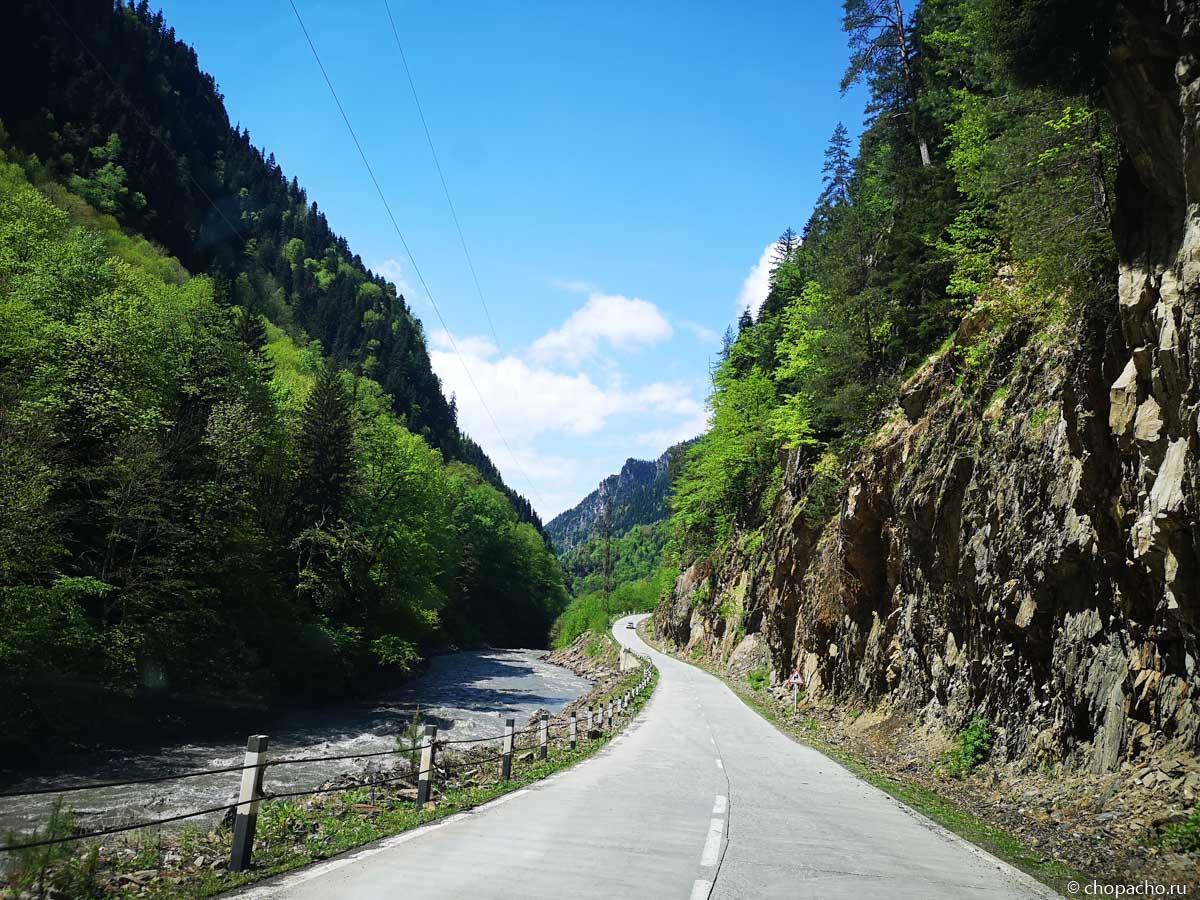 Дорога в Сванетию из Тбилиси на автомобиле