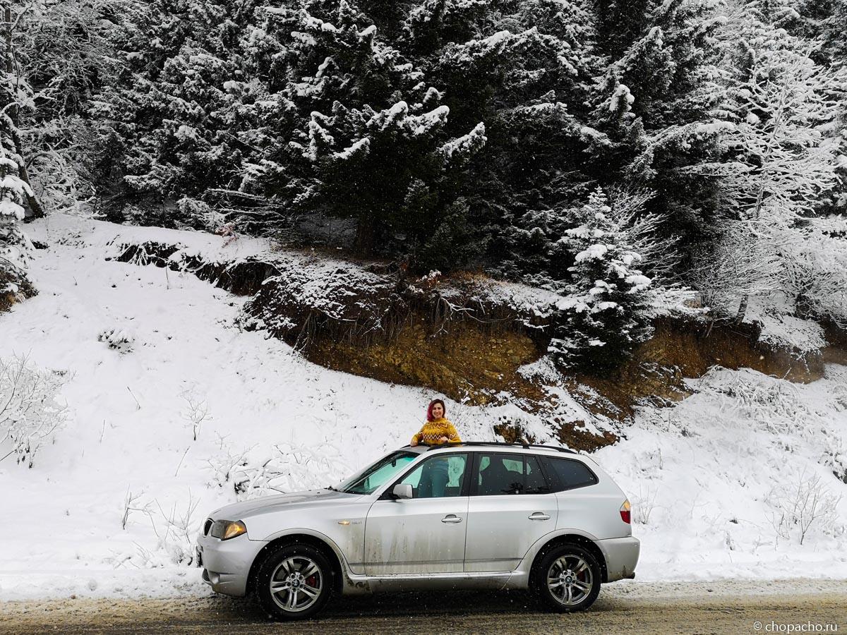 На автомобиле зимой